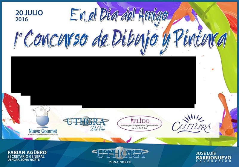 1er CONCURSO DE DIBUJO Y PINTURA – 20 DE JULIO