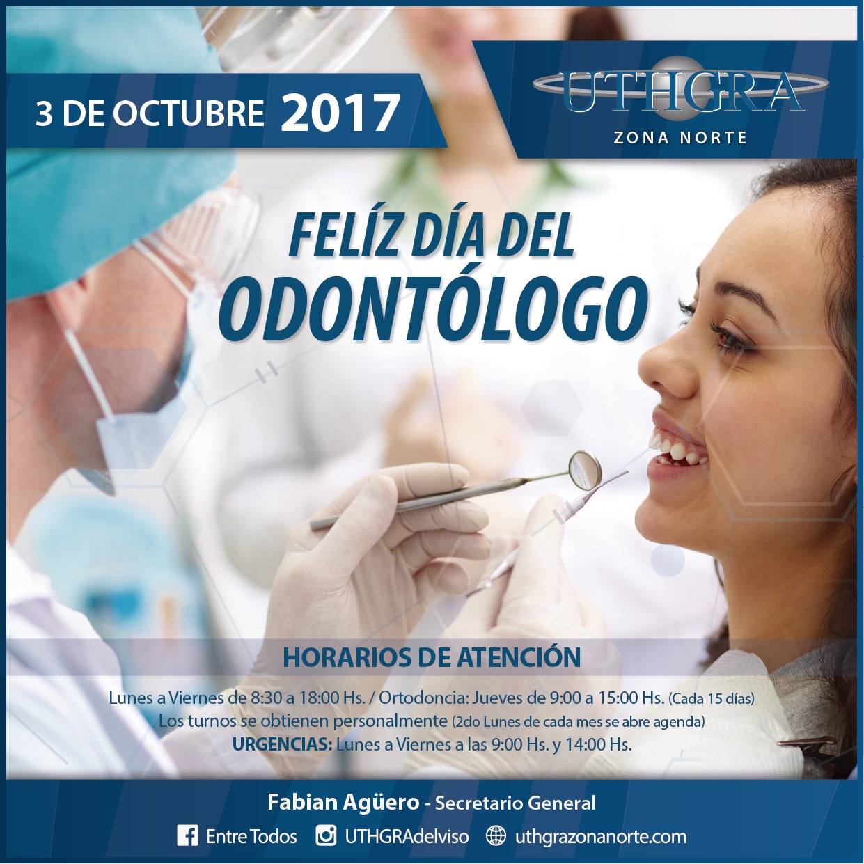 Dia del odontologo – 3 de Octubre