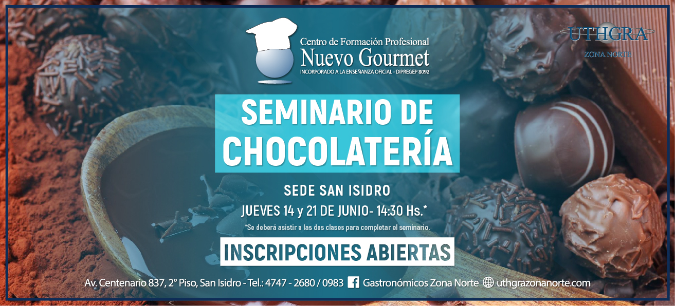 SEMINARIO DE CHOCOLATERIA – 14 Y 21 JUNIO