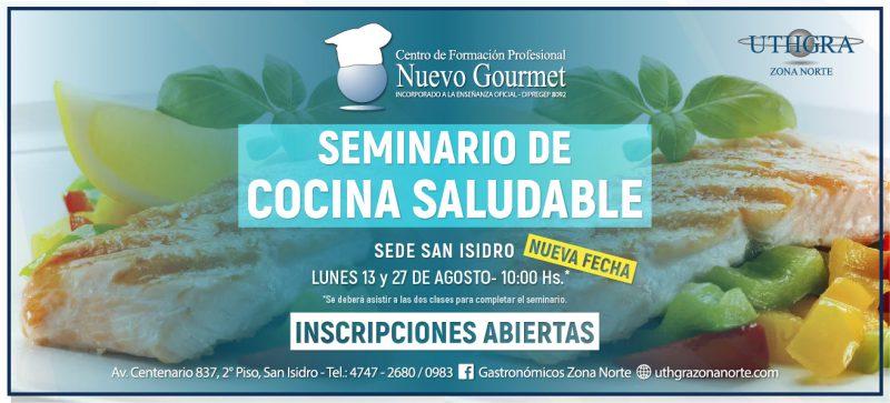 SEMINARIO COCINA SALUDABLE – 13 Y 27 AGOSTO